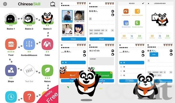 Ứng dụng học tiếng Trung ChineseSkill.