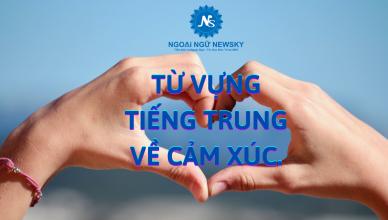 Từ vựng tiếng Trung về cảm xúc.