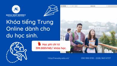 Khóa tiếng TrungOnlinedành cho du học sinh.